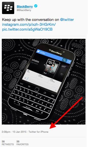 social media blunders blackberry